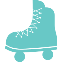 Illustration of roller skates