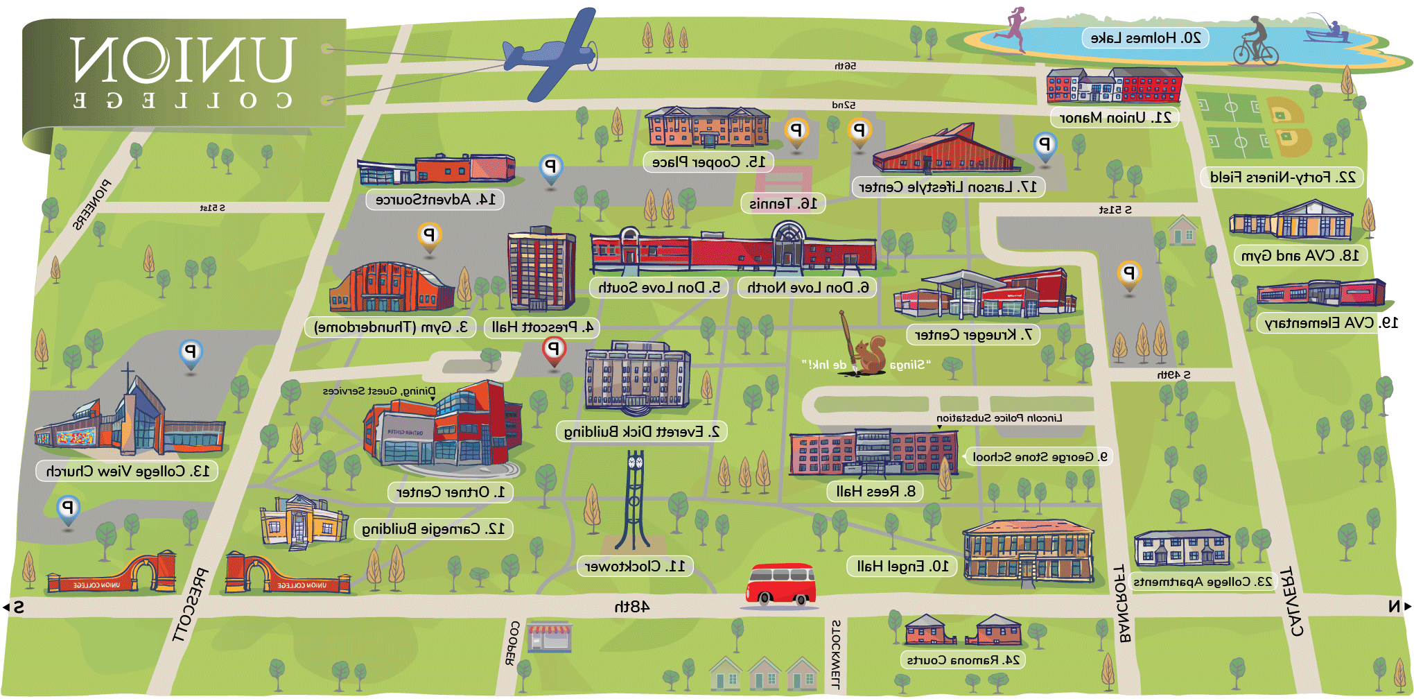 IlluSTrated campus map.